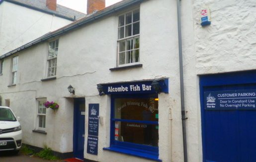 WEST SOMERSET SET COAST – ESTABLISHED FISH AND CHIP SHOP WITH ACCOMMODATION – FREEHOLD £320,000  REF VC337S